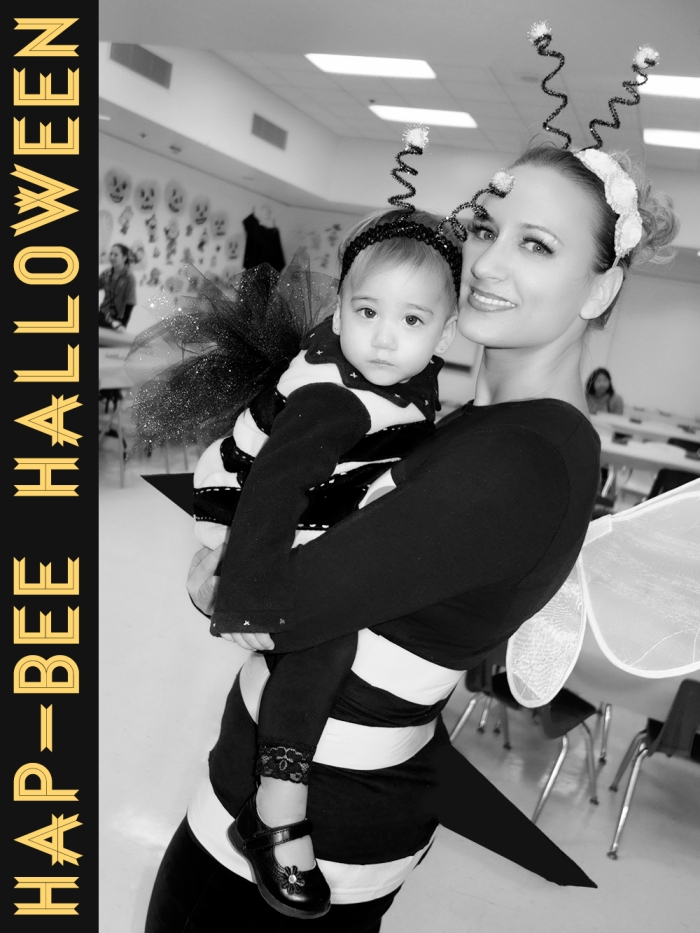 cute family bumble bee halloween costume