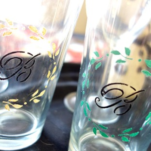 finished-painted-beer-glasses